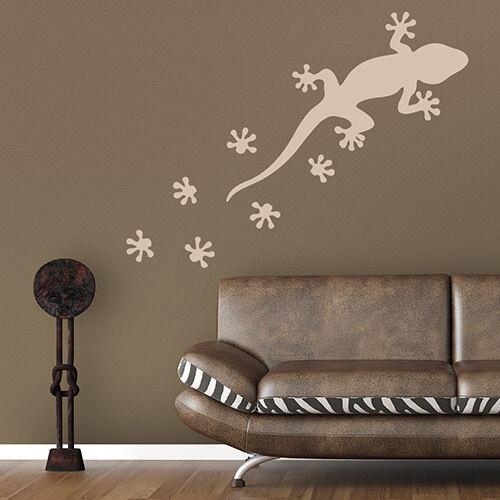 Wall Tattoo Gecko Gekko /& Tracks Sticker Wall Art Wall Decal #2023
