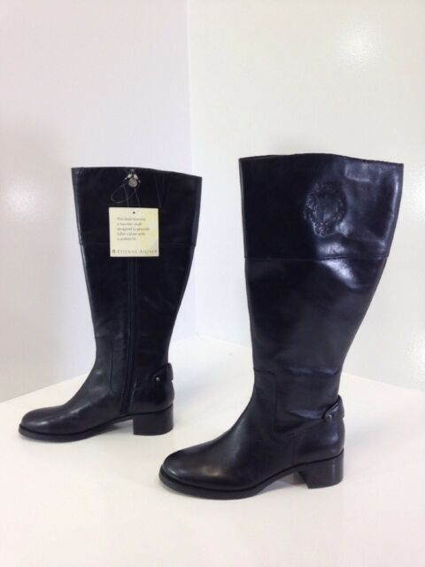 cdb179e231146 ETIENNE AIGNER WOMEN S COSTA WIDE SHAFT RIDING BOOTS BLACK SIZE 6.5 NWT