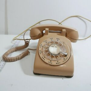 Western-Electric-Rotary-Dial-Telephone-Bell-System-Desk-Phone-Vintage-Test-work