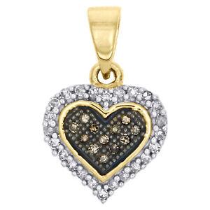 Champagne-Brown-Diamond-Heart-Pendant-10K-Yellow-Gold-0-13-Ct-Charm