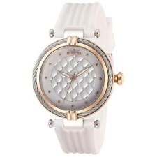 Invicta Women's Watch Bolt Crystal White MOP Dial Polyurethane Strap 28954
