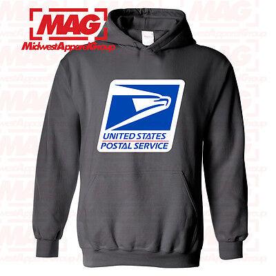 USPS POSTAL HOODIE Hooded Sweatshirt Logo on Chest United States Service US