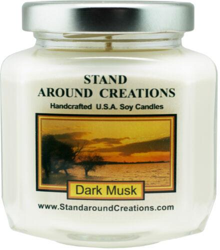 Hex Jar- Dark Musk Premium 100/% Soy Wax Candle oz 6