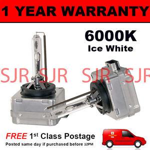 2X lampadine per AFTER MARKET KIT di conversione HID XENON 6000K Bianco Ghiaccio 35W plug in