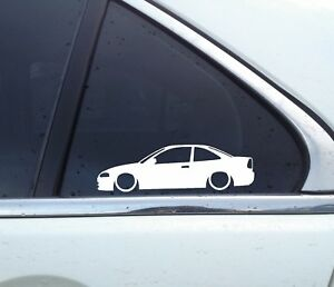 2X-Lowered-car-silhouette-stickers-for-Mitsubishi-Lancer-Coupe-5th-gen-No-wing