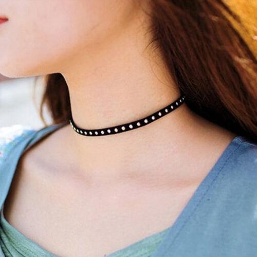 New 90s Fashion Black Velvet Choker Charm Necklace Pendants Retro Gothic Jewelry