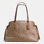 New Coach F57842 Drawstring Carryall Shoulder Bag Tote Handbag Khaki Saddle