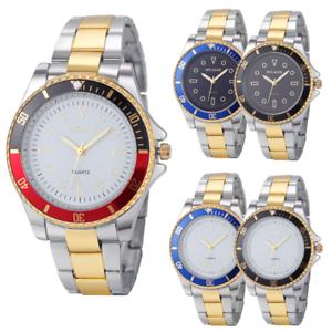 Luxus-Herren-Datum-Mode-Army-Sport-Edelstahl-Quarz-Analog-Armbanduhr