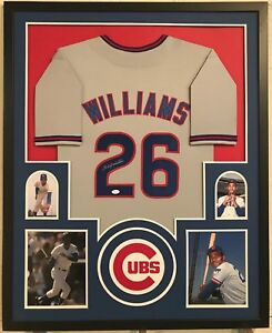 b62454518d2 Image is loading Billy-Williams-Autographed-Custom-Framed-Chicago-Cubs-Grey-