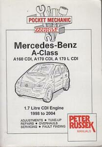 mercedes benz a class a160 cdi a170 cdi vaneo 1 7 cdi 98 04 rh ebay com mercedes benz a class owners manual mercedes benz a160 workshop manual