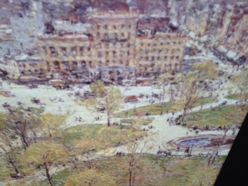 "Childe Hassam /""Union Square In Spring 1896/"" Impressionism 35mm Art Slide"