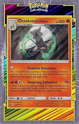Carte Pokemon OSSATUEUR d/'Alola 12//111 Holo Soleil et Lune 4 SL4 FR NEUF