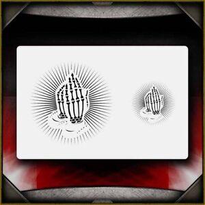 praying hands 2 airbrush stencil template airsick 723810975008 ebay