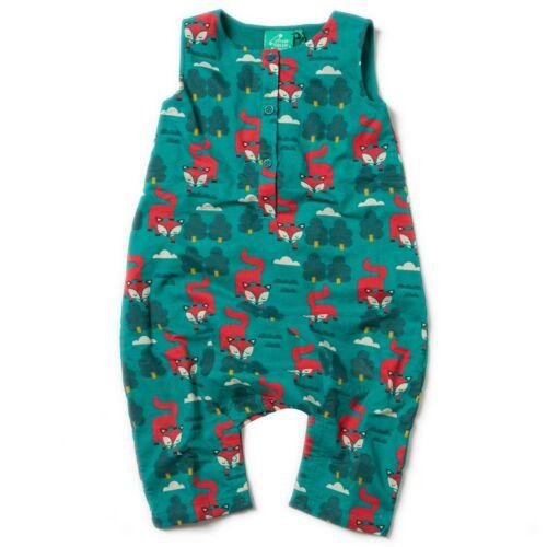 Little Green Radicals Night Swimming Swans or Winter Fox Dungarees 9 12 Organic