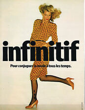 PUBLICITE ADVERTISING 025  1979  INFINITIF  mode pret à porter