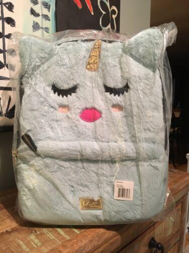 Betsey Johnson Luv Betsey Sienna Kitsch Backpack Seafoam Unicorn NWT