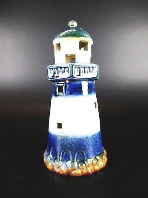 Faro Cheap Sales 16,5 Cm Ceramica Lucentezza Modello Candelina Analytical Faro Bianco Blu