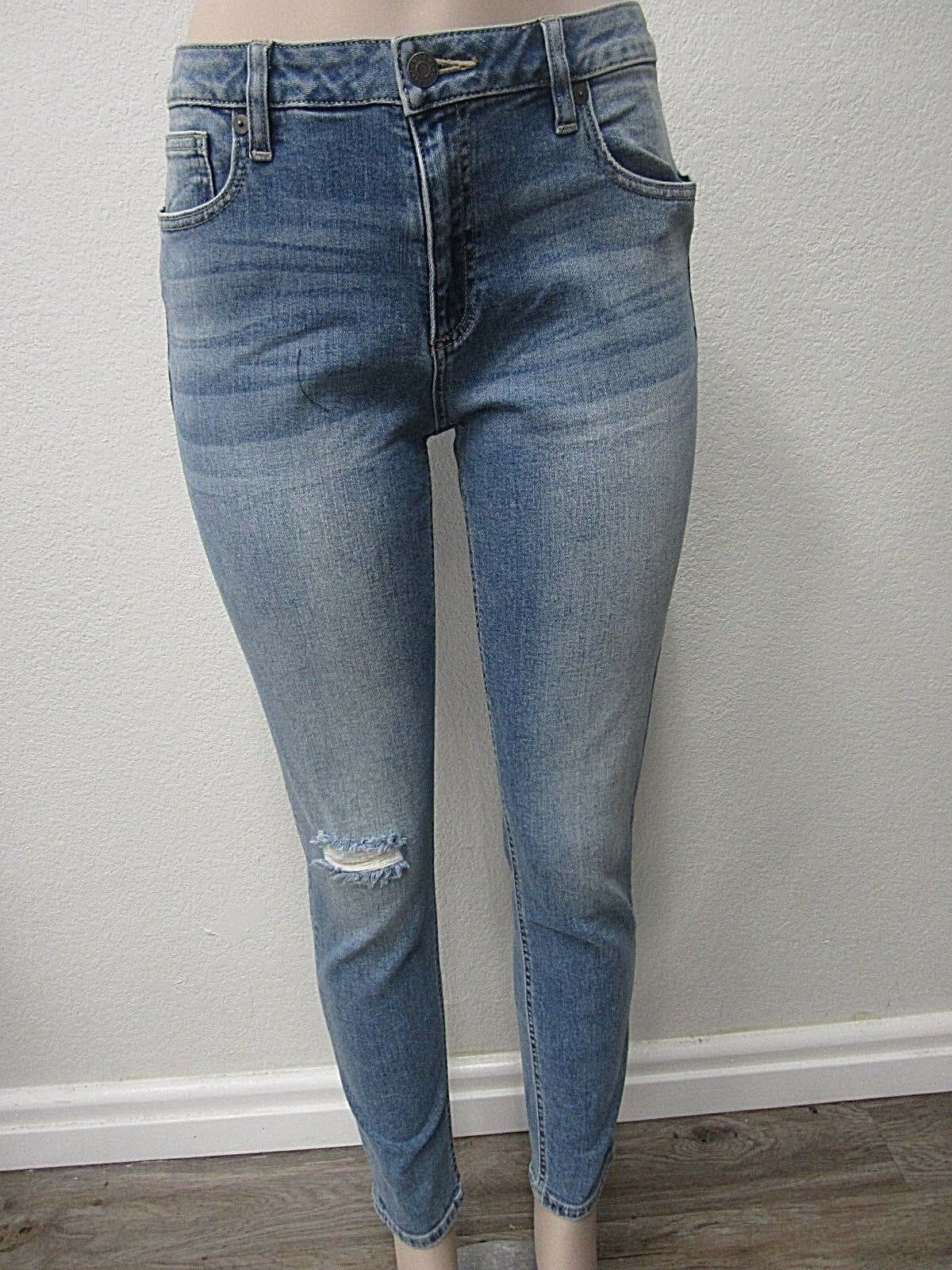 NWT Miss Me Womens bluee Distressed Mid Rise Skinny Jeans M1001S15 Size 29 X 27