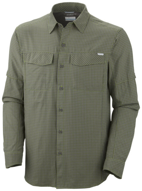 Columbia Herren Outdoorhemd Hemd langarm grün weiß kleinkariert Gr. L 52/54 NEU