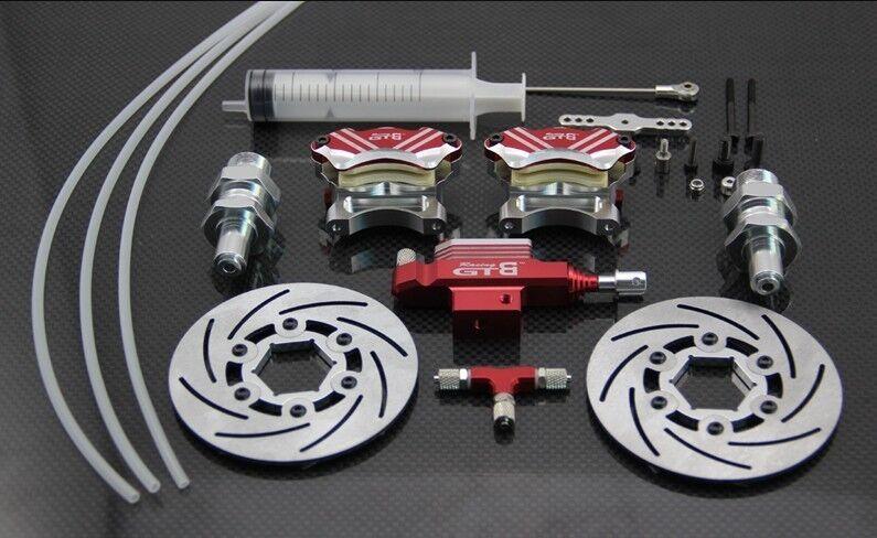 4 Piston Front Hydraulic Brake system for HPI baja 5b 5sc ss 1/5 rc car gasoline