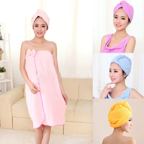 Microfiber Towel Quick Dry Hair Magic Drying Wrap Hat Cap Bathing Hot Turban Spa