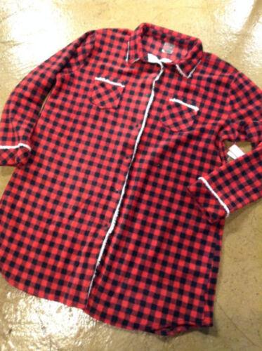 Nightshirt  Night Gown  Soft Sensations Womens Sherpa Plaid Sleepshirt  2X or 3X