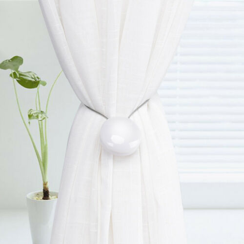 Details about  /19inch Long Magnetic Curtain Tiebacks//Holdbacks Drapes Holders //Clips