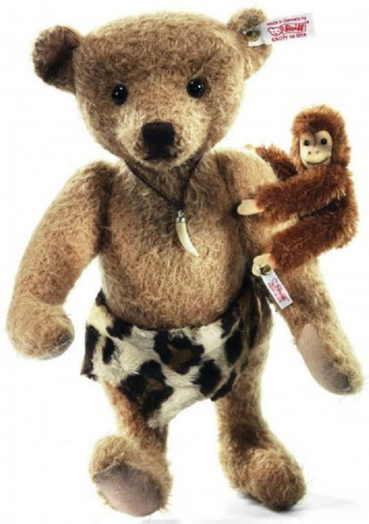 NEW STEIFF Johnny & Jocko Jungle Baby MONKEY TEDDY BEAR SET Ideal Gift 035104