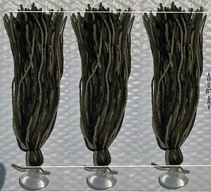 """3 8"""" Spawning Mops Camouflage 100 Strands + Suction Cups killifish guppy rainbow"""