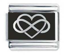 Infinity Heart * Love * Daisy Charm Fits Nomination Classic Size Italian Charms