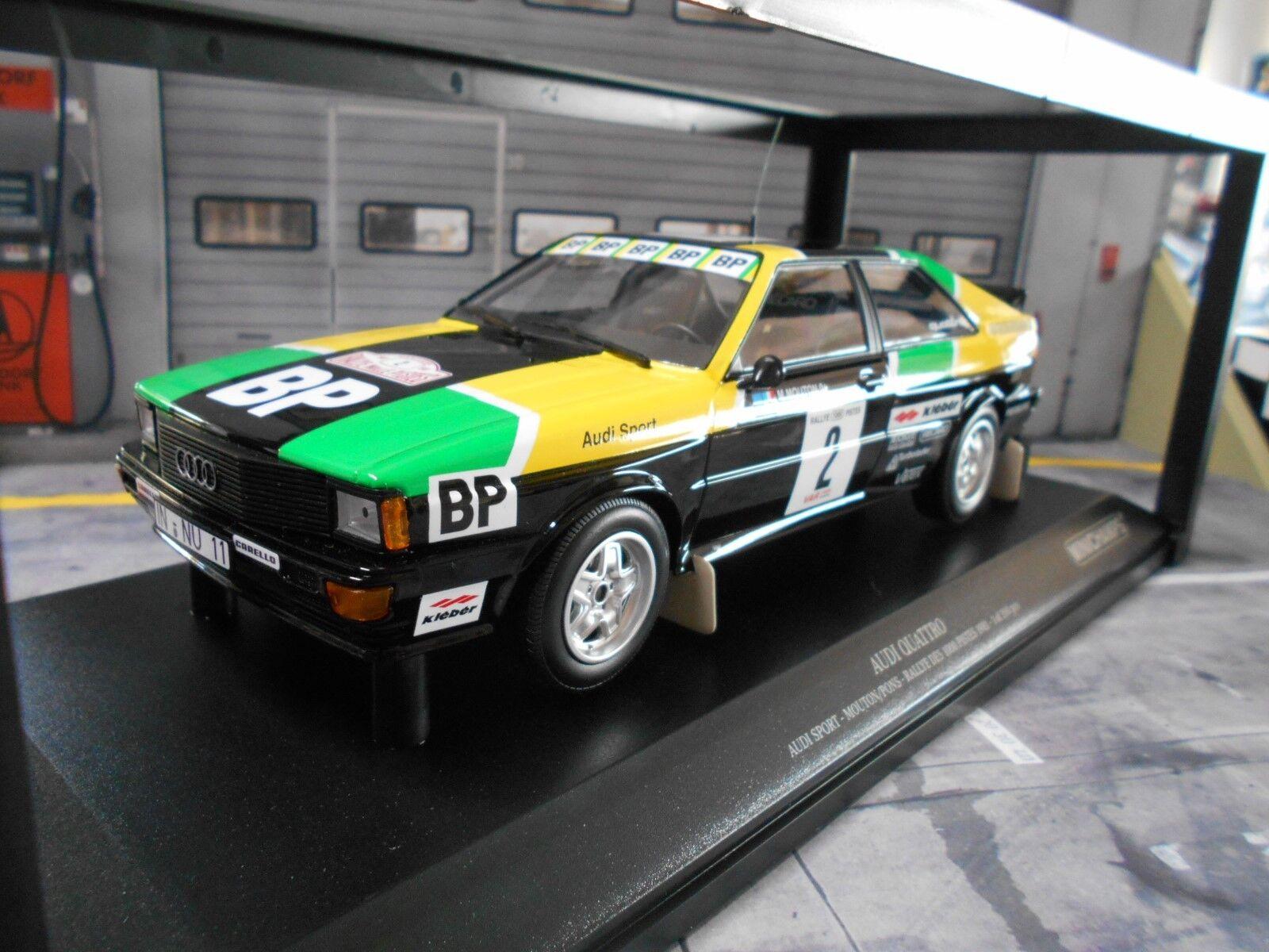 AUDI QUATTRO RALLYE taille 4 1000 pistes 1981  2 mouton BP New MINICHAMPS 1 18