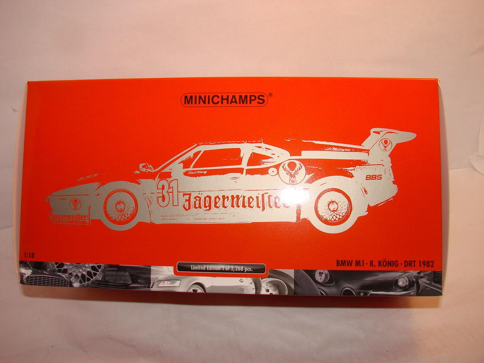 1 18 BMW m1 Jägermeister Kurt KÖNIG Minichamps in OVP limitato a 2268 PC