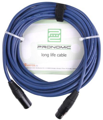 Profi DMX Kabel XLR Male zu XLR Female Licht Effekt Cable Gold Connector Blau