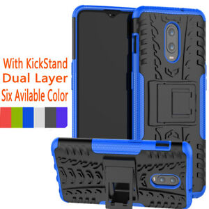 Shockproof-Stand-Rubber-Armor-Hybrid-Hard-Case-Cover-For-Oneplus-7-6T