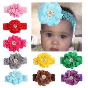 Kinder-Baby-Stirnband-Kleinkind-Spitze-Bogen-Blume-Haarband-Maedchen-Zubehoer