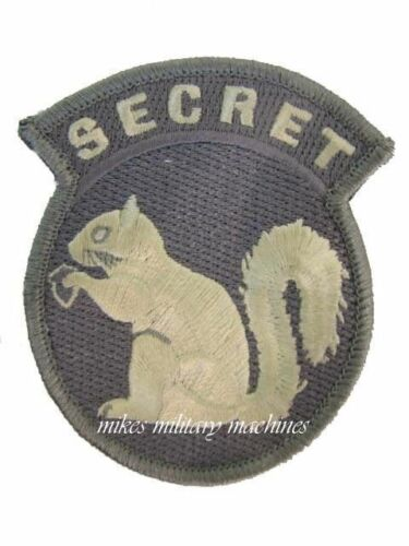 Military Black Ops Army Navy Seal Team Top Secret Squirrel ACU Light Patch New
