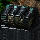 Outdoor Paracord Bracelet Cord Buckle Compass Fire Starter for Hiking Camping