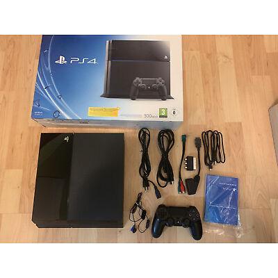 Sony PlayStation 4 500GB Konsole - Schwarz (CUH-1004A) + 2 Spiele Top Zustand