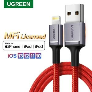 Ugreen-Braided-USB-Lightning-Cable-2-4A-Fast-Charging-For-iPhone-11-Pro-Max-iPad