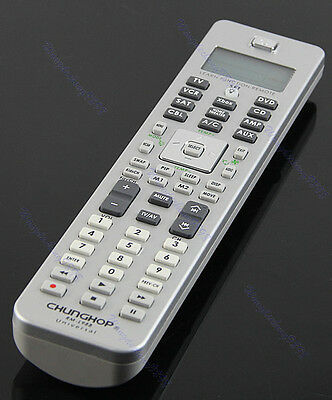10in1 Learn Function Universal LCD Display Remote Control For AMP TV DVD CD CBL