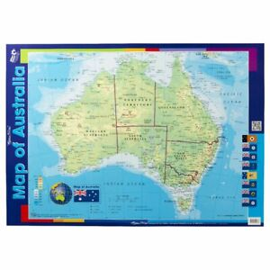 Young Australia Map.Details About Gillian Miles Map Of Australia Double Sided Wall Chart
