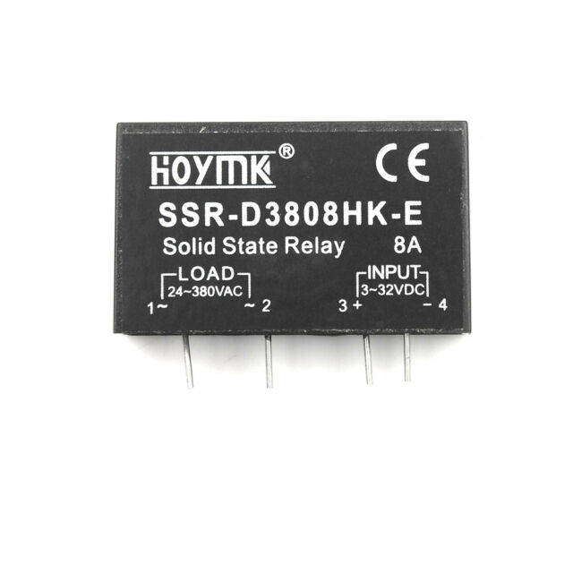Q00132 PCB Dedicated with Pins Hoymk SSR-D3808HK 8A DC-AC Solid State Relay UK