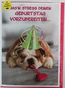 Geburtstagskarte Musik Geburtstag Lustig Mit Sound U Licht Hund