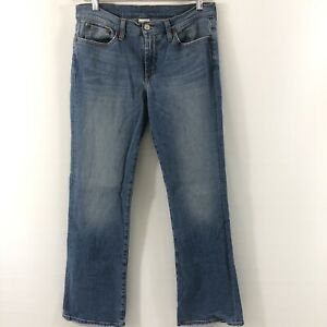 Lucky-Brand-Dungarees-Women-s-Size-10-30-Reg-Jeans-Low-Rise-Flare-Blue-Jeans