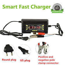 12V 6A Smart Fast Lead-acid Battery Charger for CAR Motorcycle LCD Display /US