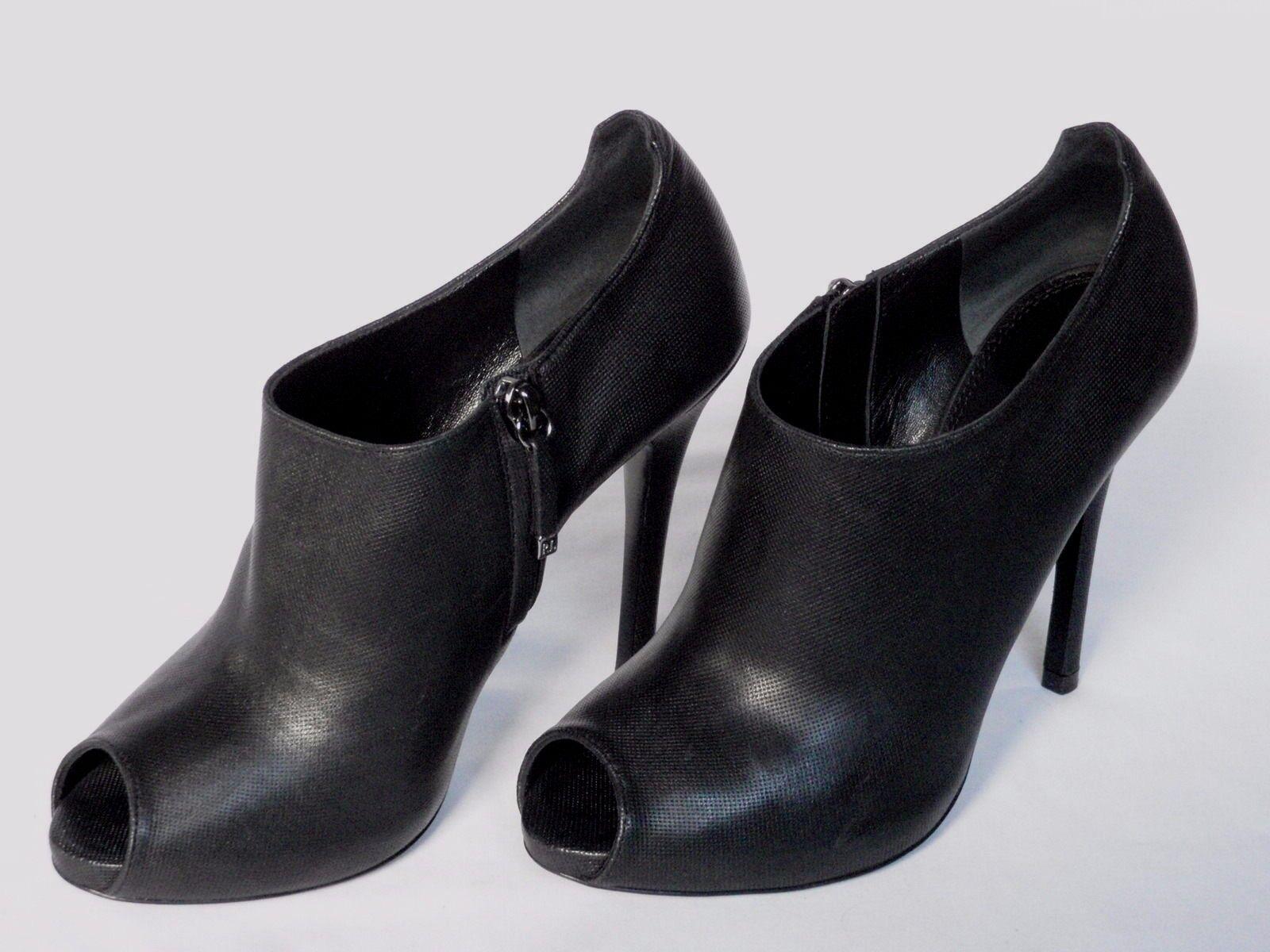 Nuevas damas Jassie Ralph Lauren De Cuero Negro Zapato Zapato Zapato Bota UK 7 EU 39.5 nos 9.5  moda