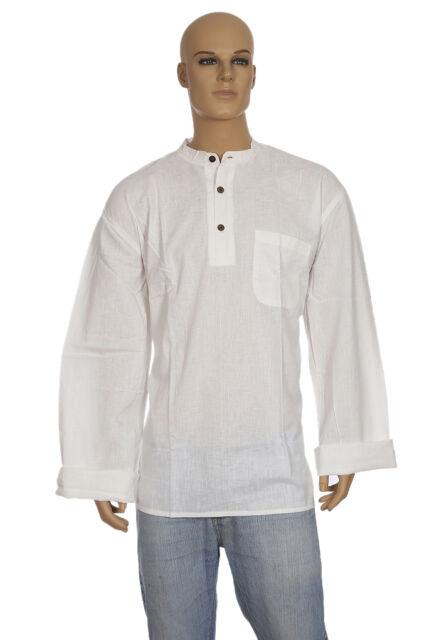 Rajrang Men's Clothing Cotton Kurtas Shirts Self Weaved White Kurtas Shirt 3XL