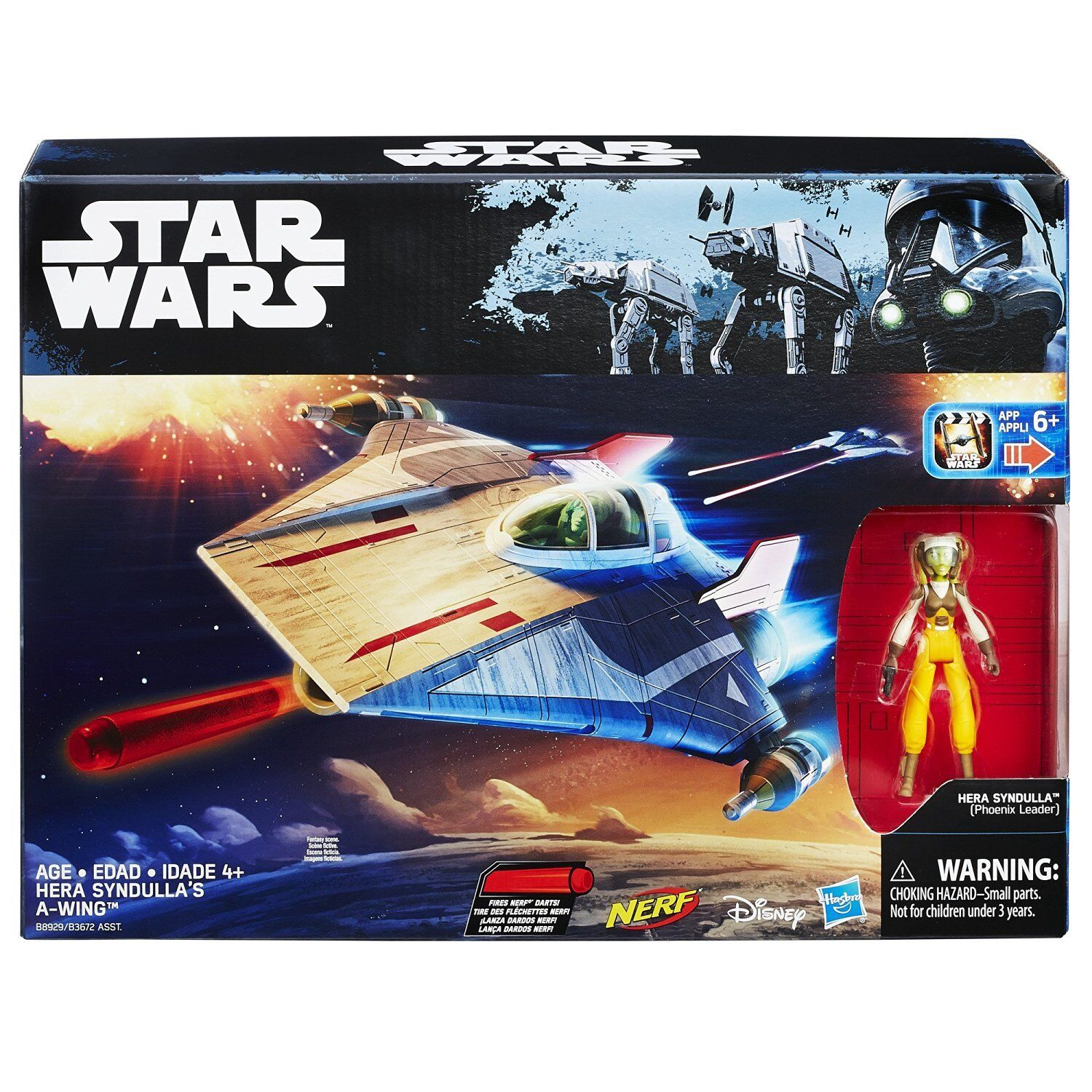 Star - wars - die rebellen hera syndulla & flügel star fighter action - figur