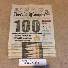 UConn Huskies Women's Basketball 100 Wins 100th Win Daily Campus Newspaper Rare