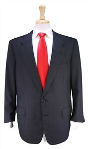 JAY-KOS-New-York-Bespoke-Solid-Charcoal-Gray-2-Btn-Handmade-Wool-Suit-42R